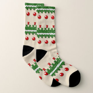 Faux Knitted Ugly Christmas Nostalgic Cream Design 1
