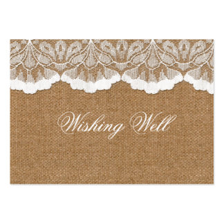 FAUX lace and burlap wishing well cards Pack Of Chubby Business Cards