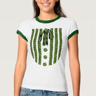 Faux Lace Front Print T Shirt