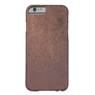 Faux leather, brown with some marks and scratches barely there iPhone 6 case