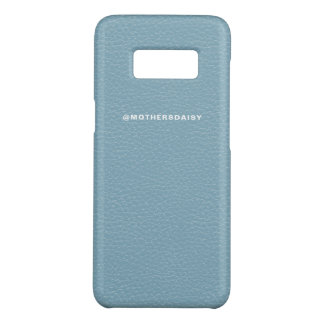 Faux Leather Look Light Denim Blue Case-Mate Samsung Galaxy S8 Case