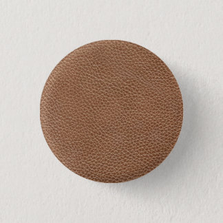 Faux Leather Natural Brown 3 Cm Round Badge