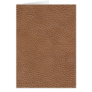 Faux Leather Natural Brown Card