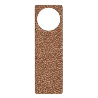 Faux Leather Natural Brown Door Hanger
