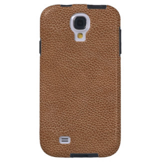 Faux Leather Natural Brown Galaxy S4 Case