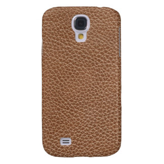 Faux Leather Natural Brown Galaxy S4 Covers