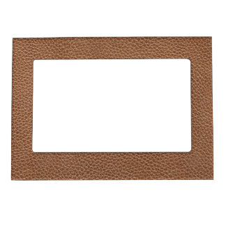Faux Leather Natural Brown Magnetic Picture Frame