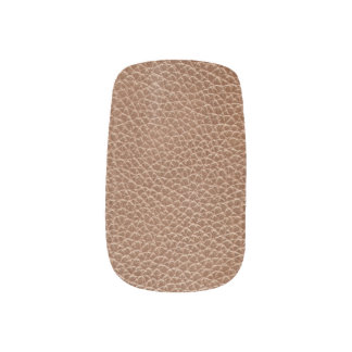Faux Leather Natural Brown Minx Nail Art