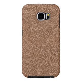 Faux Leather Natural Brown Samsung Galaxy S6 Cases