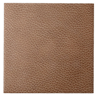 Faux Leather Natural Brown Tile