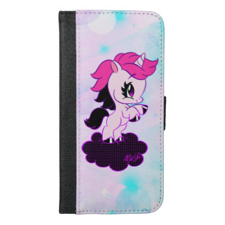 Faux Leather Pastel Unicorn iPhone Wallet Case