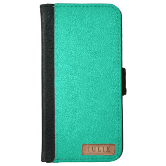 Faux Leather Texture Teal Phone Case