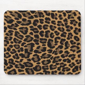 faux leopard print mousepad