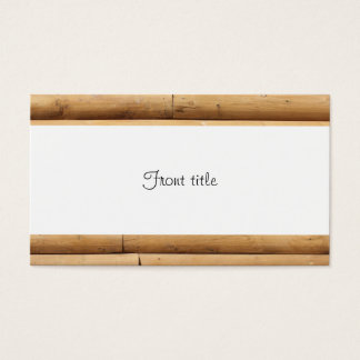 Faux Log Cabin Siding Background Business Card