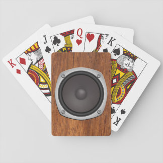Faux Loudspeaker Playing Cards