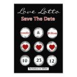 Faux Love Lotto Save the Date Announcement 9 Cm X 13 Cm Invitation Card
