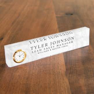 Faux Marble Backdrop Nameplate