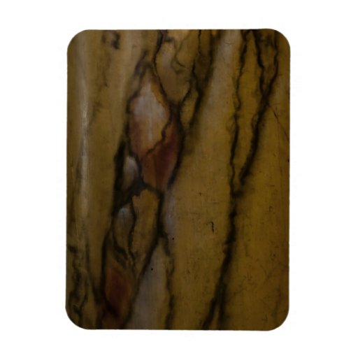 Faux marble look rectangle magnet