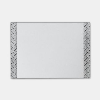 Faux Metal Diamond Plating Background Image Post-it® Notes