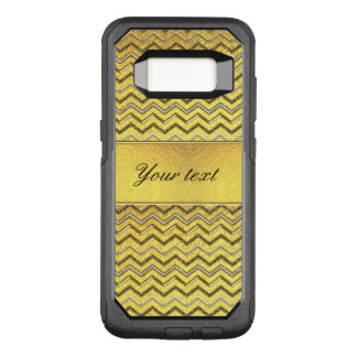 Faux Metallic Glitter Chevrons Gold Foil OtterBox Commuter Samsung Galaxy S8 Case