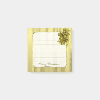 Faux Metallic Gold Christmas Stripes Post-it Notes