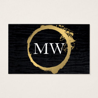 Faux Metallic Gold Velvet Black with Monogram