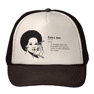 FAUX MO TRUCKER HAT