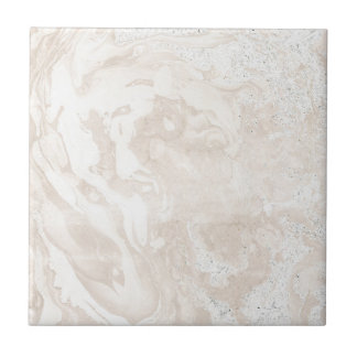 Faux Modern Pink and White Marble Tile