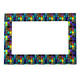 Faux Mosaic Ceramic Tile Magnetic Picture Frame