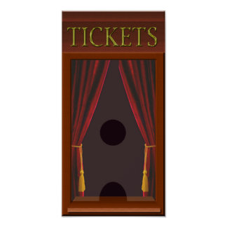 Faux Movie Theatre Ticket Window Poster