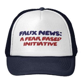 Faux News a Fear Based Initiative Parody Hat