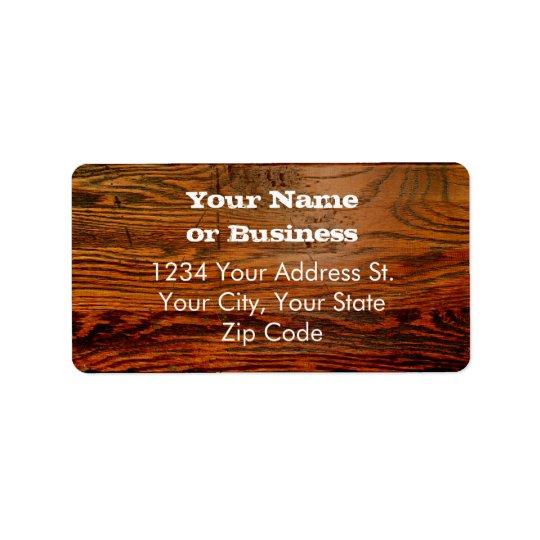 Faux Oiled Wood Plank Personalised Custom Label
