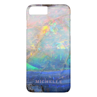 Faux opal gem gemstone mineral bling bokeh custom iPhone 8 plus/7 plus case