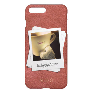 Faux Oxblood Leather Picture Frame for Your Photo iPhone 7 Plus Case
