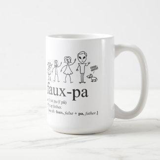 Faux-Pa mug. A great gift idea. Basic White Mug