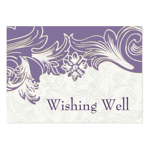 FAUX paper cutout purple wishing well cards Business Cards