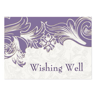 FAUX paper cutout purple wishing well cards Pack Of Chubby Business Cards