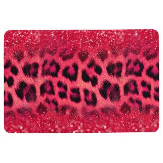 Faux Pink Glitter Leopard Spots For Teen Girls Floor Mat