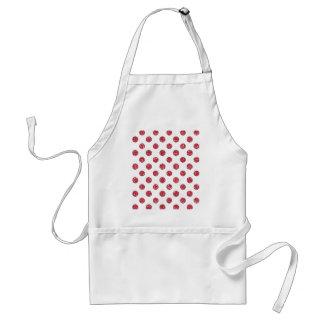 Faux Pink Glitter Polka Dots Pattern on White Aprons