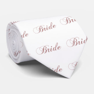 Faux Pink Sparkles Bride Tie