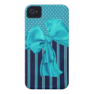 Faux Poka Dots,Stripes,Ribbons & Bows IPhone Case