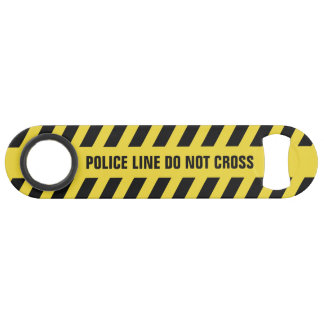 Faux Police Line custom text bottle opener