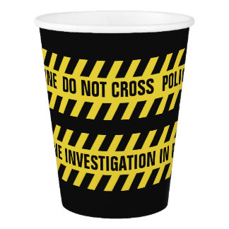 Faux Police Line custom text paper cups