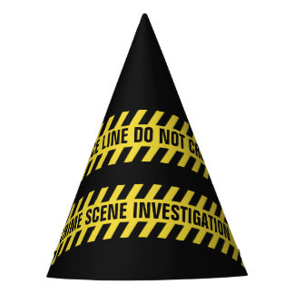Faux Police Line custom text party hat