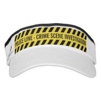 Faux Police Line custom text visors Visor