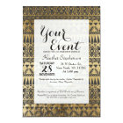 Faux Print Gold Hamsa Hand and Tribal Aztec Card