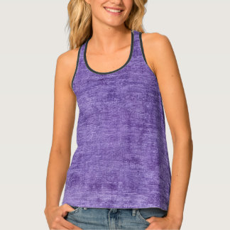 Faux Printed Solid Purple Textured Background Singlet