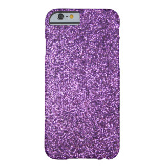 Faux Purple Glitter Barely There iPhone 6 Case