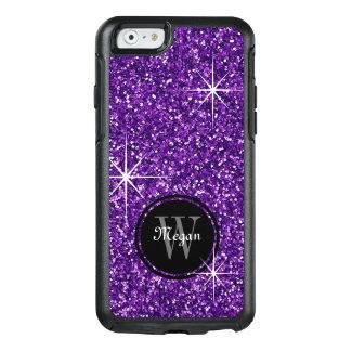 Faux Purple Glitter Personalized OtterBox iPhone 6/6s Case
