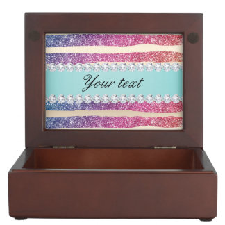 Faux Rainbow Glitter Stripes Diamonds Gold Memory Box